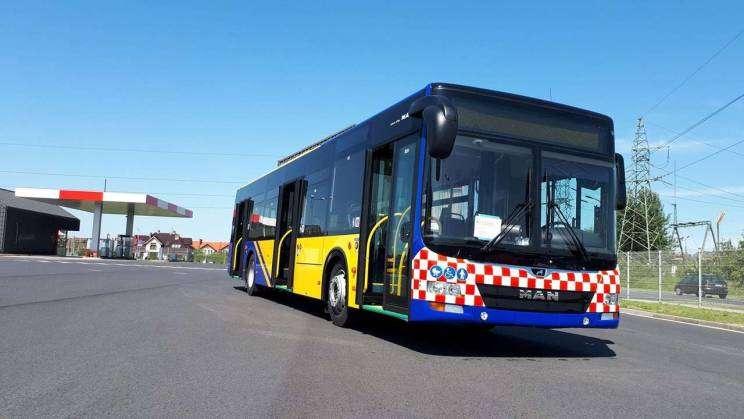 Autobusy Komunikacji Miejskiej dofinansowane ze środków Unii Europejskiej.