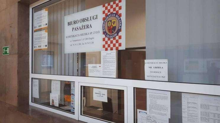 Biuro Obsługi Pasażera na głogowskim Dworcu