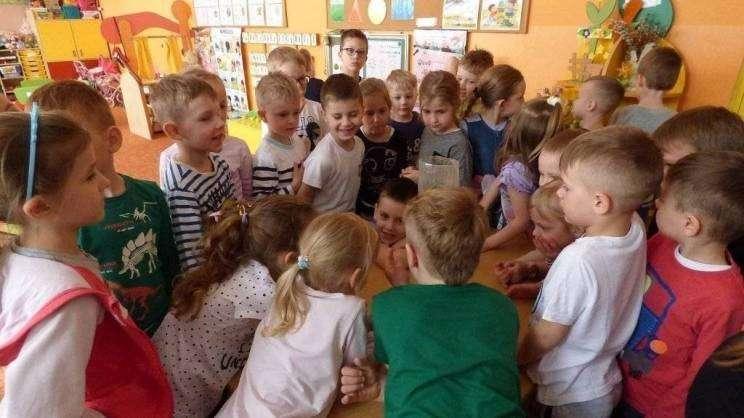 Dzieci z przedszkola podczas zajęć edukacyjnych dotyczących wody2