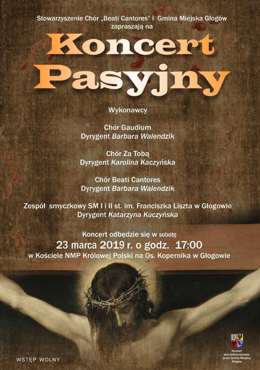 plakat koncert pasyjny Głogów