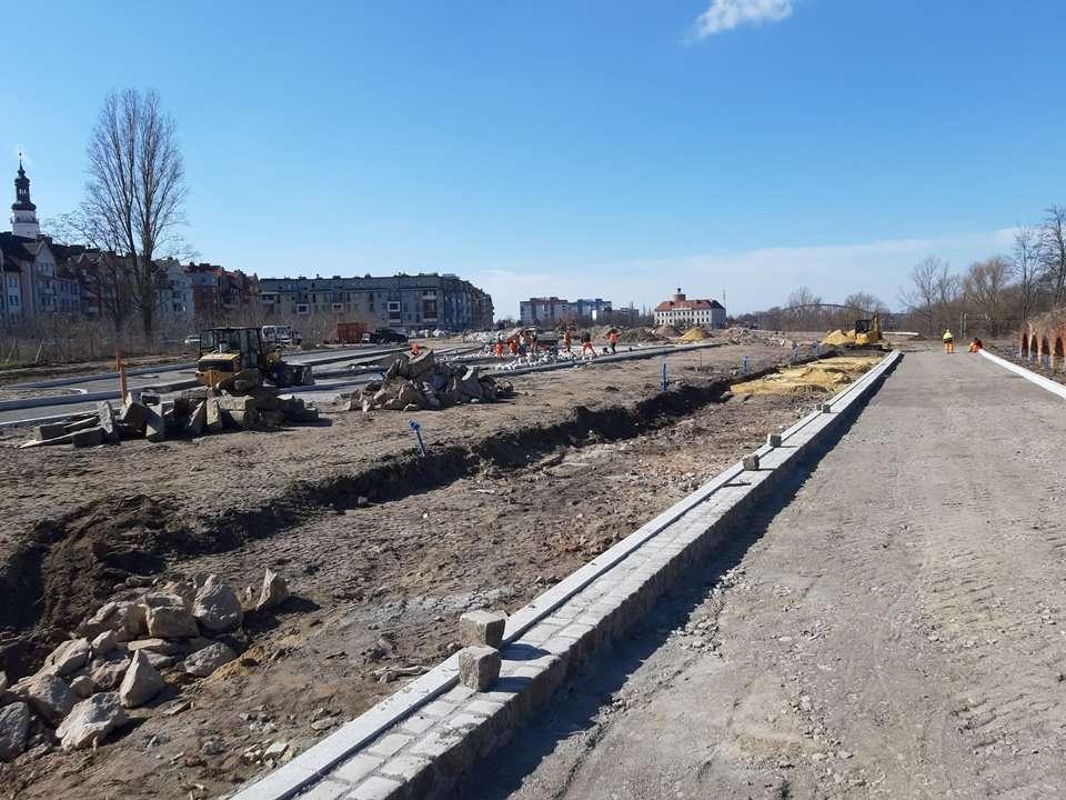 Postępy prac na terenie Bulwaru Nadodrzańskiego 006