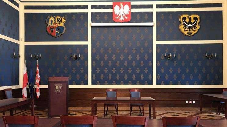 Sala Rajców w Urzędzie Miejskim w Głogowie