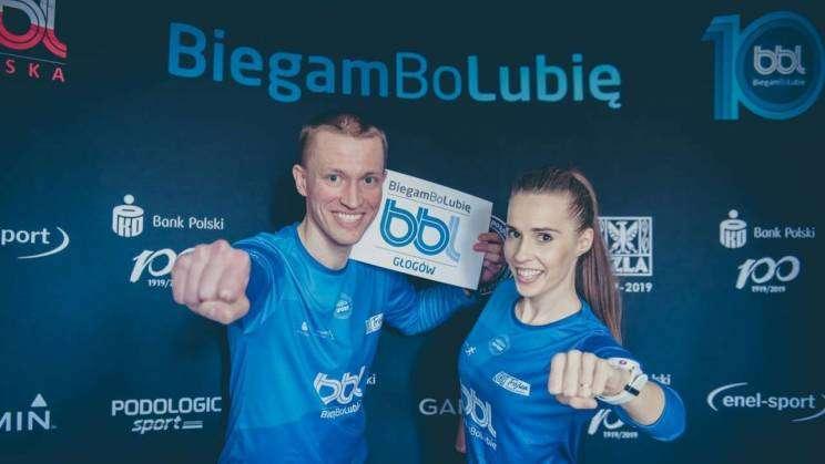 Trenerzy akcji BiegamBoLubię w Głogowie