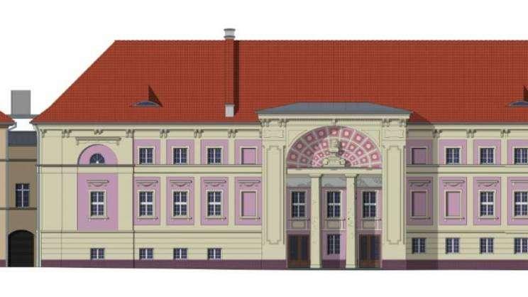 Wizualizacja Teatru im. Andreasa Gryphiusa w dzień