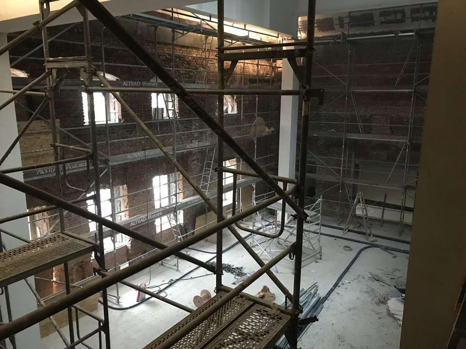 Zdjęcie wnętrza Teatru im. Andreasa Gryphiusa w Głogowie przed odbudową