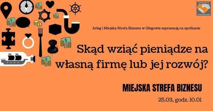 Miejska Strefa Biznesu plakat szkolenie Głogów 25.03.2019