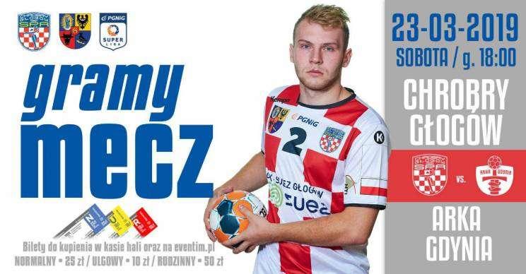 plakat mecz Chrobry Głogów Arka Gdynia