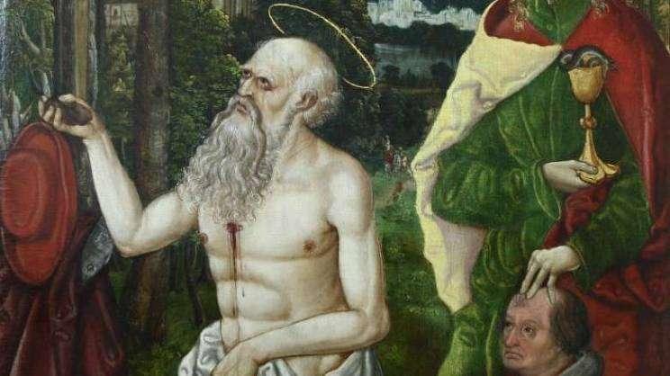 Obraz sw hieronim muzeum Głogów