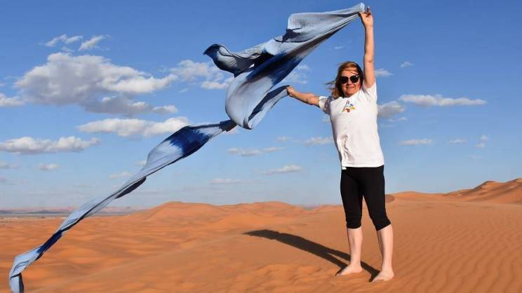 Grażyna Sroczyńska na Saharze