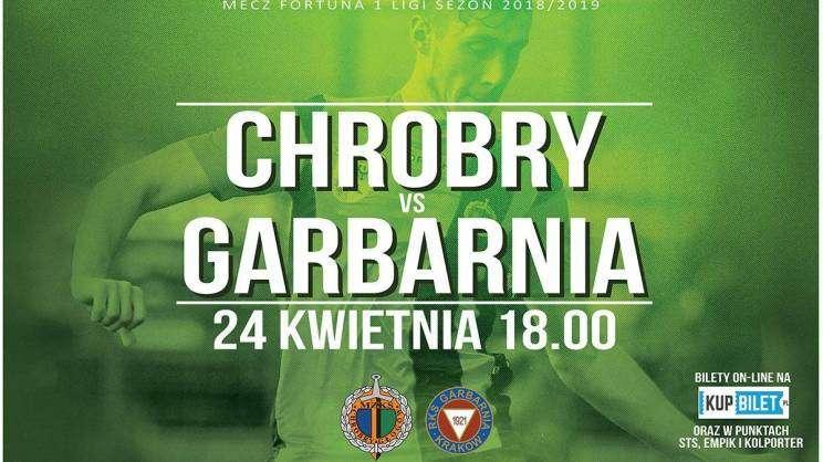 Chrobry - Garbarnia plakat meczowy