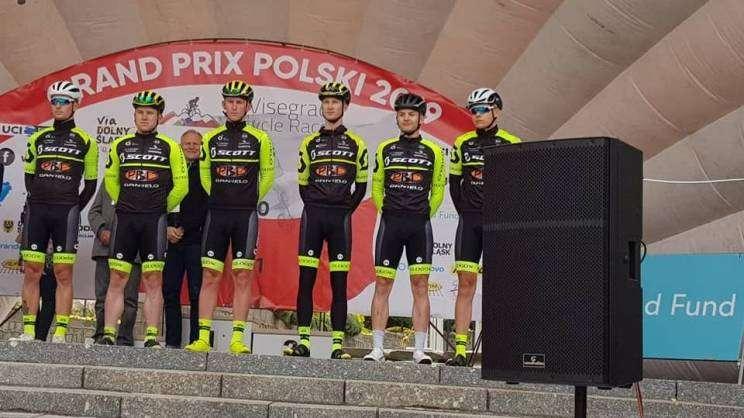 Ekipa TC Chrobry Scott Głogów na podium Grand Prix