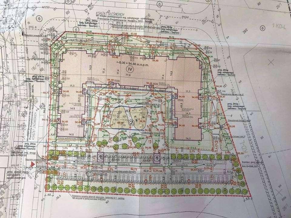 Plan zagosopdarowania terenu pod budynek socjalno-komunalny na os. Piastów