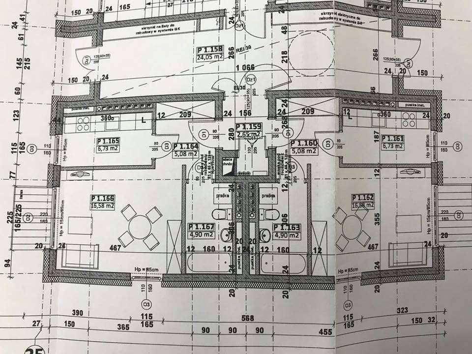 Plan zagospodarowania mieszkania w lokalu socjalno-komunalnym na os. Piastów