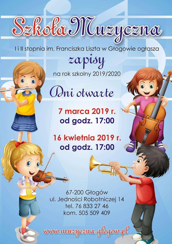 Szkoła Muzyczna dni otwarte 2019 plakat pełny
