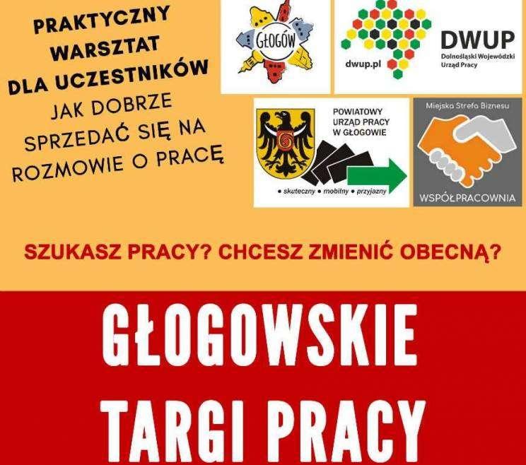 Targi pracy 02.04 2019 Głogów Plakat