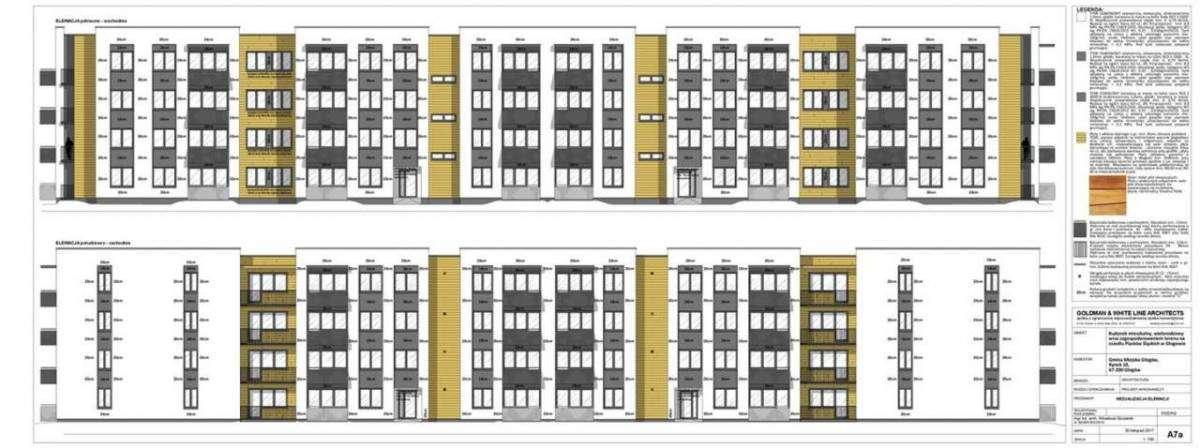 Wizualizacja budynku socjalno-komunalnego na os. Piastów