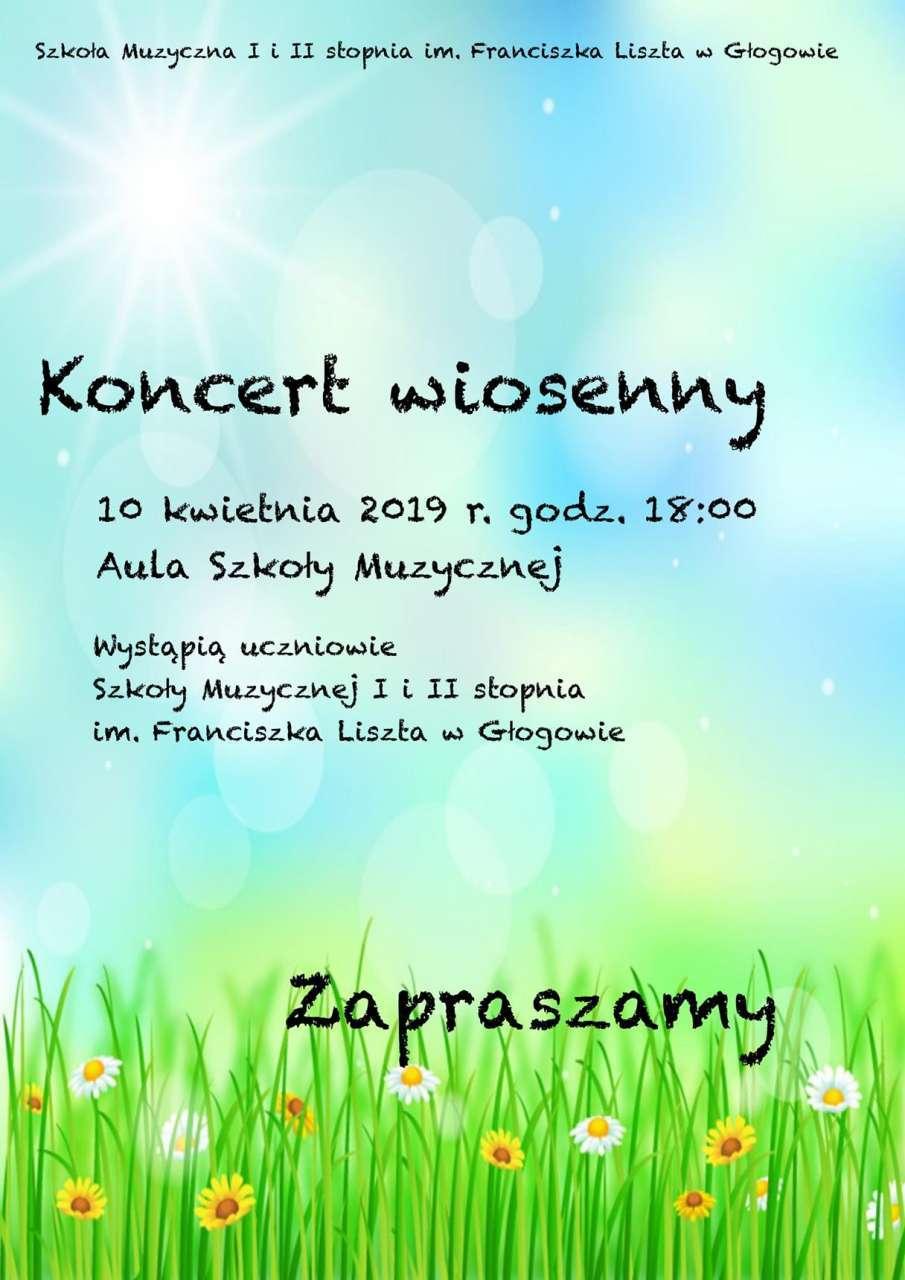 Zaproszenie na koncert wiosenny