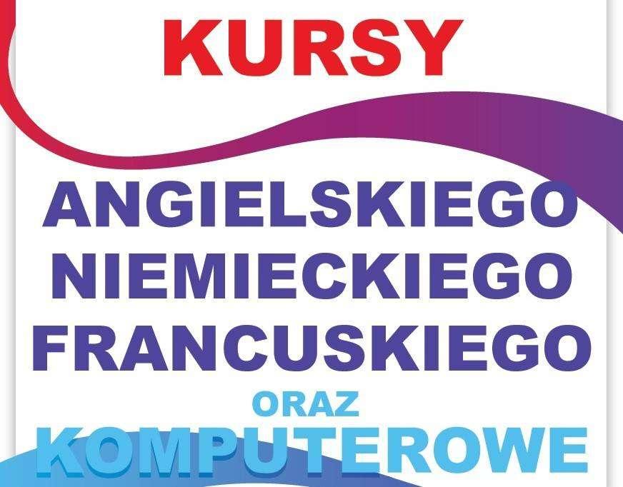 kursy językowe plakat