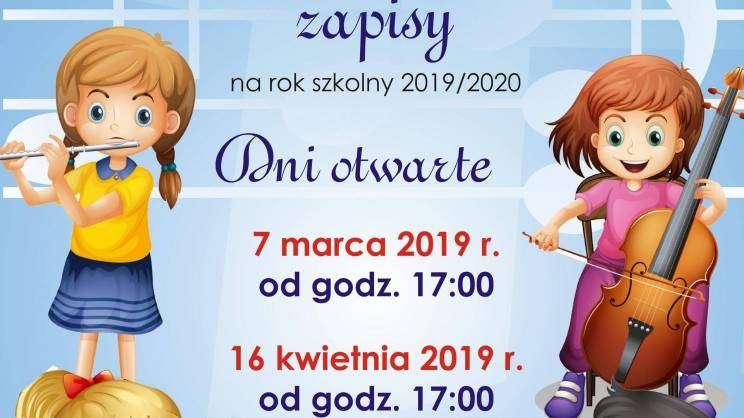 plakat rekrutacja dni otwarte 2019 Szkoła Muzyczna
