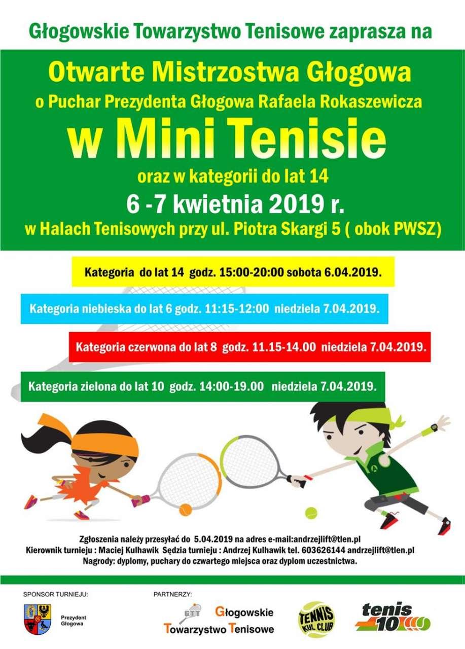 Plakat zapraszający na turniej o puchar prezydenta Głogowa