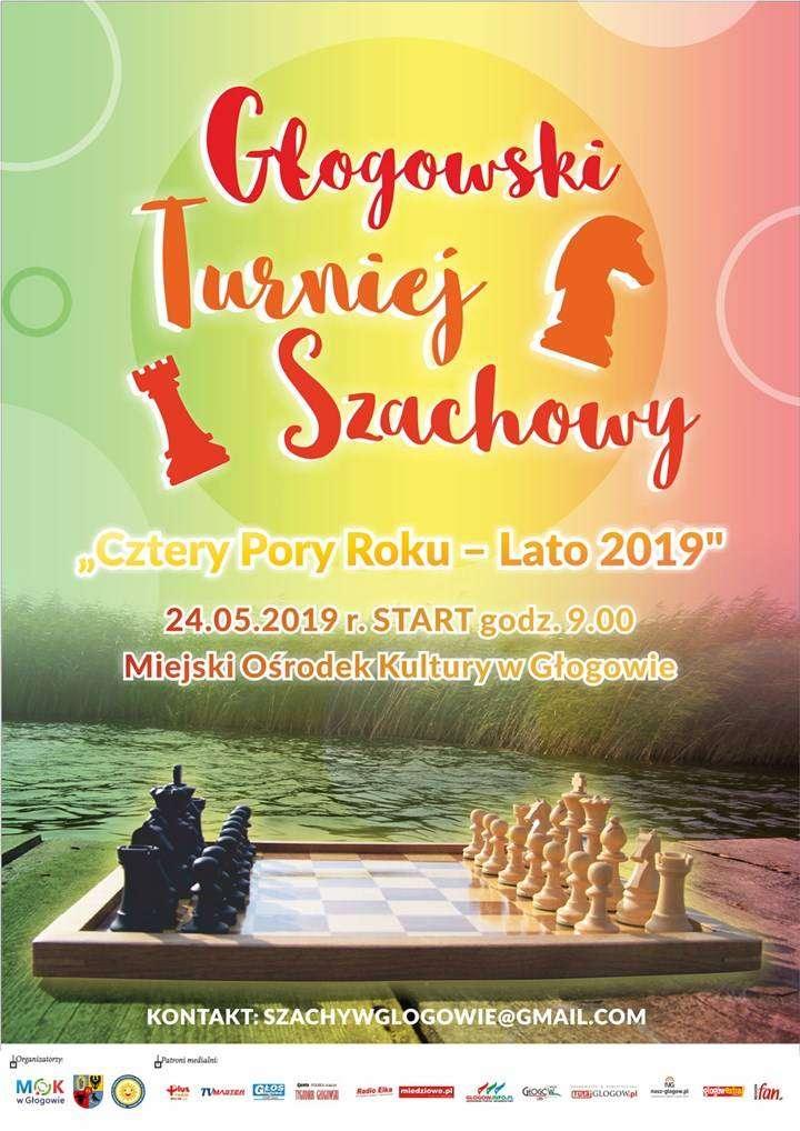 turniej szachowy lato - plakat