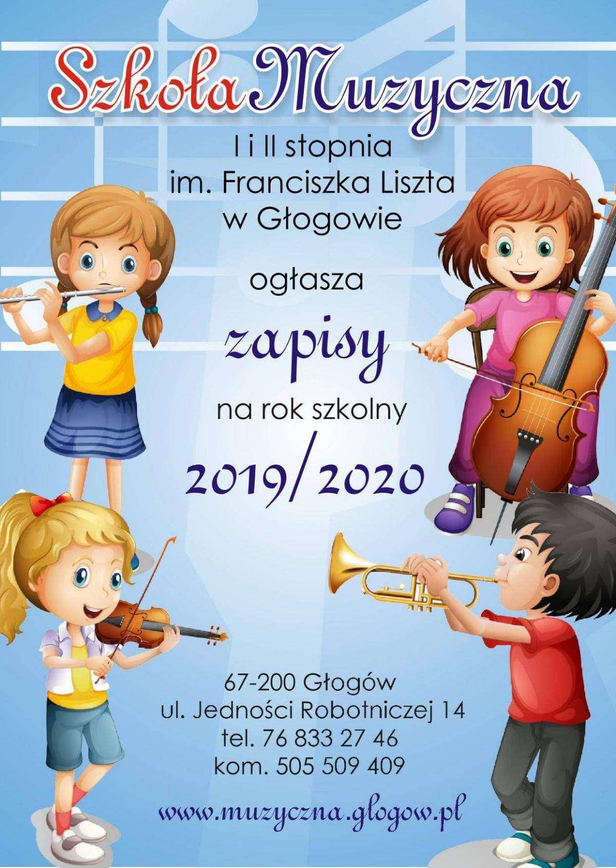 zapisy do szkoły muzycznej na rok szkolny 2019-2020