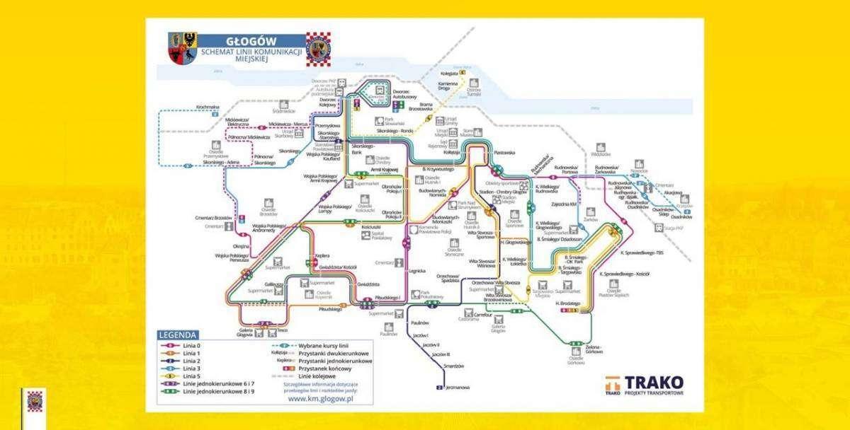 schemat linii komunikacji miejskiej