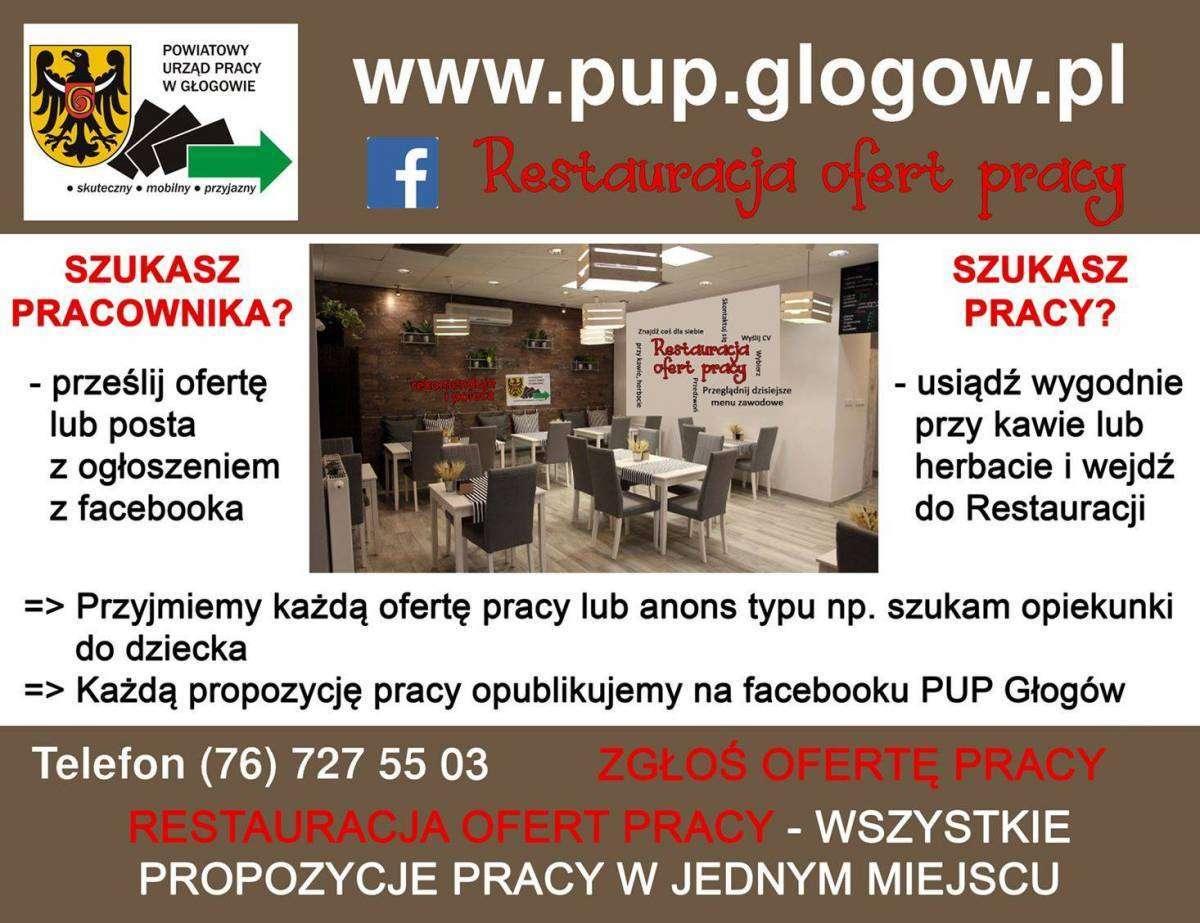 Restauracja-Ofert-Pracy-PUP-Głogów-plakat