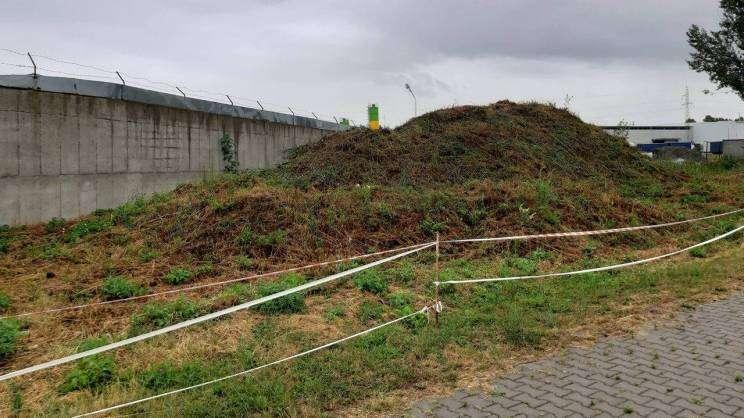 Wizja lokalna przy nielegalnym składowisku odpadów
