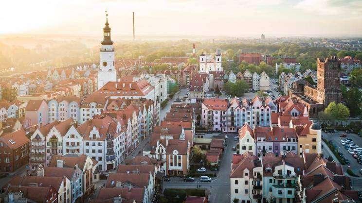 Panorama Głogowa widok na Stare Miasto
