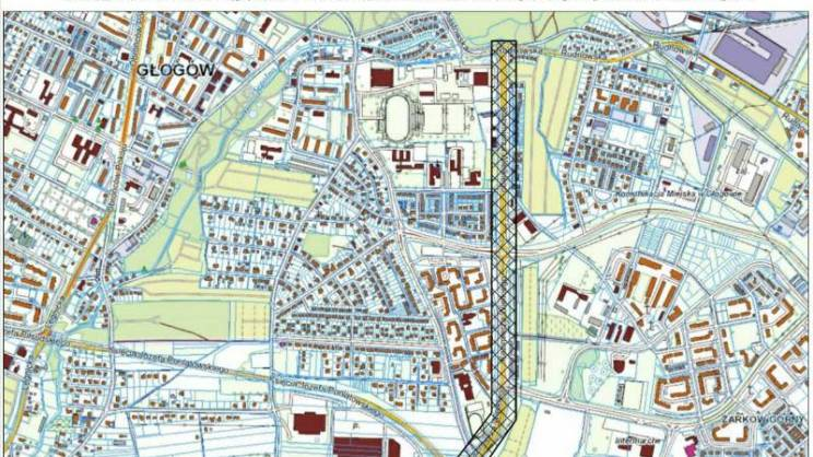 budowa chodnika K. Wielkiego mapa