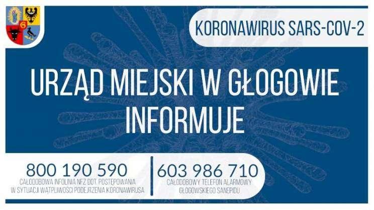 KORONAWIRUS UM w Głogowie informuje grafika