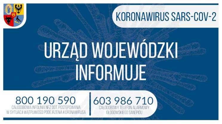 KORONAWIRUS Urząd Wojewódzki informuje grafika