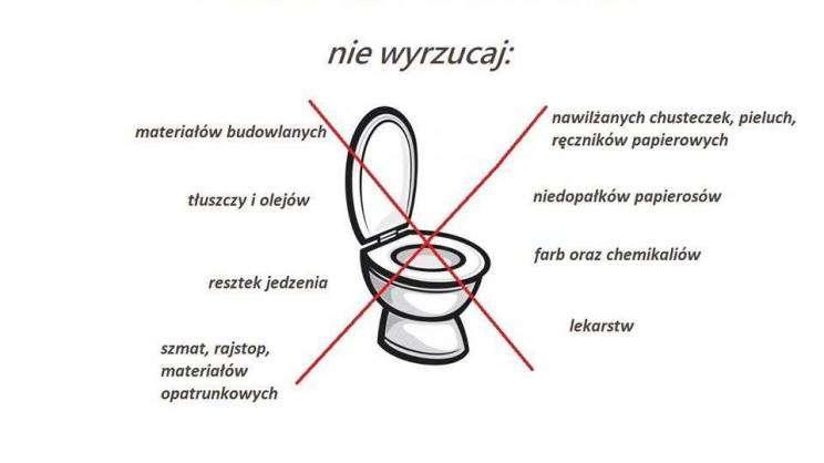 grafika toaleta to nie śmietnik (fot. PWiK Głogów)