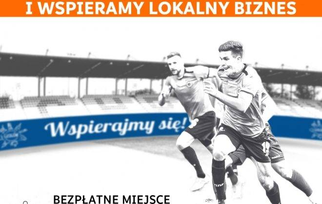 grafika MZKS Chrobry Głogów - wracamy i wspieramy lokalny biznes