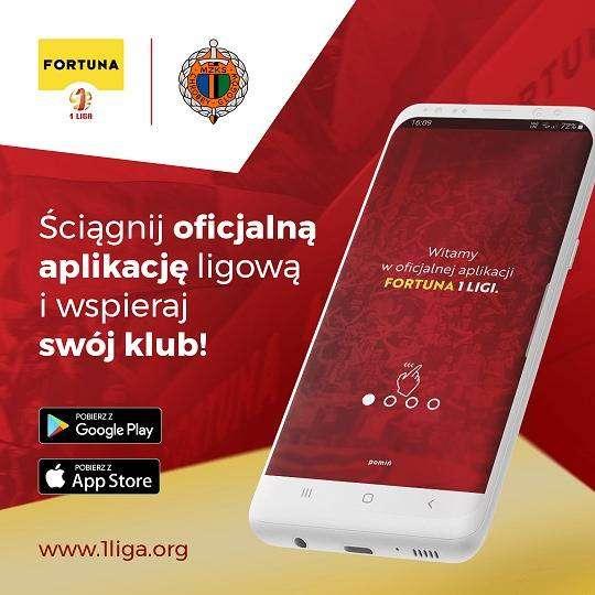 grafika przedstawiająca aplikację Fortuna 1. Liga