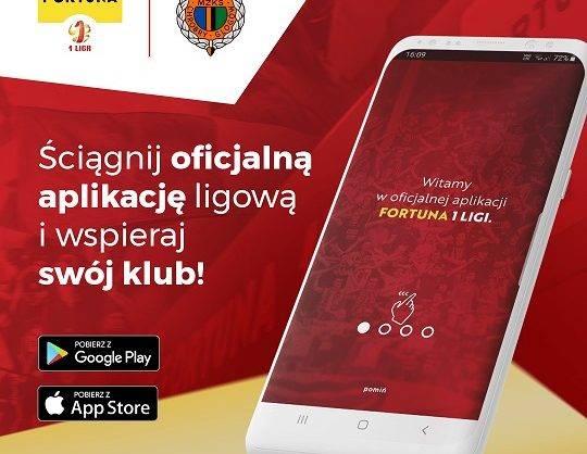 grafika Aplikacja Fortuna 1 Liga - grafika