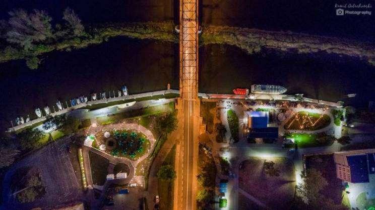 Ostrów-Tumski-Głogów widok z lotu ptaka