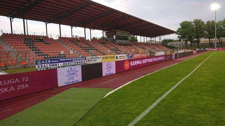Chrobry-Głogów-reklama-sklep-zoologiczny-Gaja-stadion-Głogów-06.06.2020.