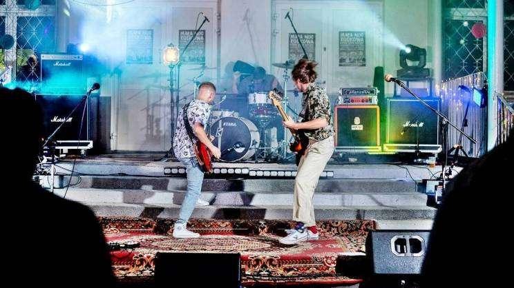 Zespół rockowy Rumore na scenie MayDay podczas koncertu Mała Noc Rockowa Letnia Scena MayDay