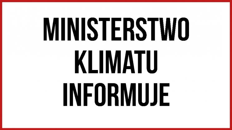 ministerstwo klimatu informuje grafika