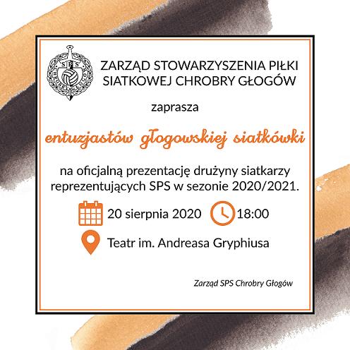 zaproszenie na prezentację SPS dla entuzjastów głogowskiej siatkówki