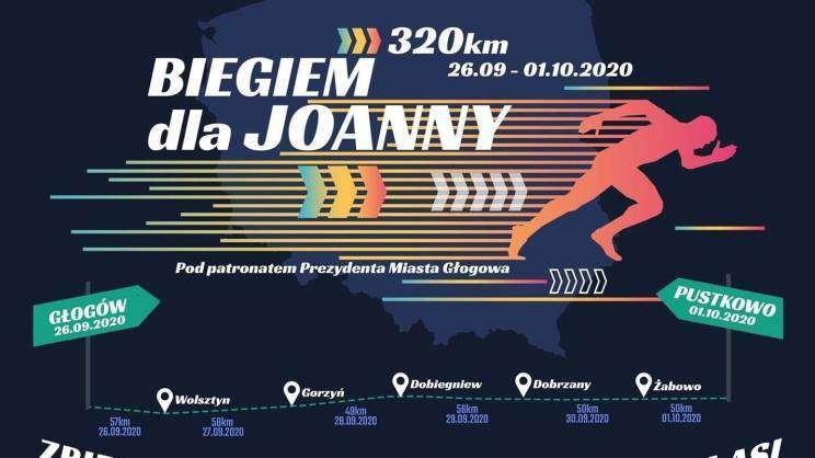 2020-09-28 Akcja Biegiem dla Joanny - plakat