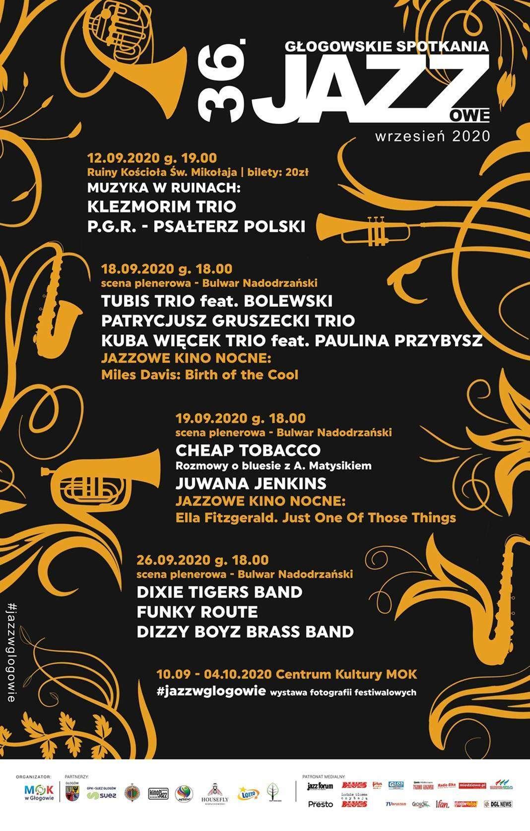 09.2020-plakat głogowskich spotkań jazzowych w Głogowie