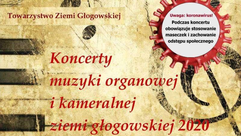 Plakat Grodowiec-koncert muzyki organowej-Towarzystwo Ziemi Głogowskiej-zajawka-w800-h600