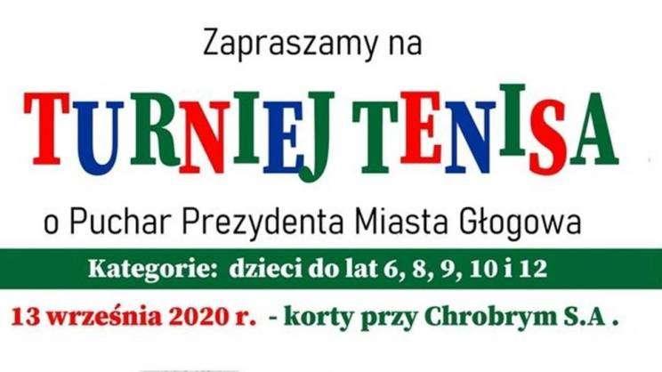 03.09.2020 Turniej tenisa Głogowskie Towarzystwo Tenisowe plakat