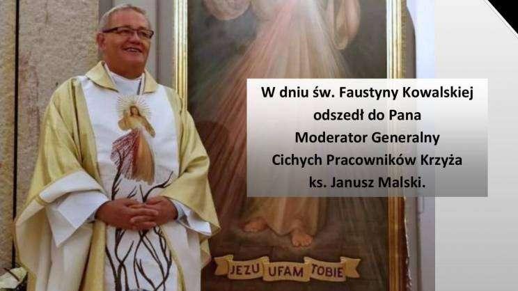 06.10.2020 msza w intencji śp. ks. Janusza Malskiego, plakat