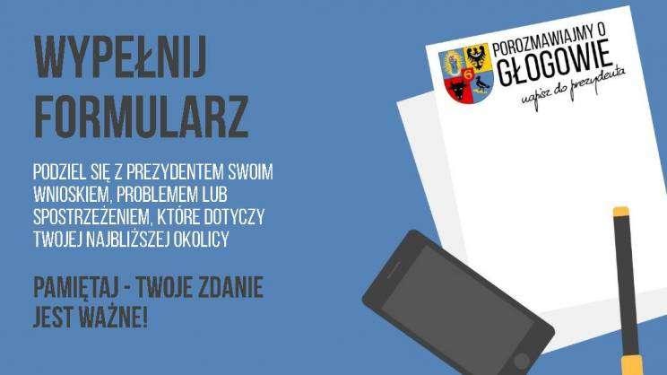 Grafika wyróżniająca - Porozmawiajmy o Głogowie, napisz do prezydenta
