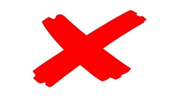 grafika odwołane krzyżyk czerwony