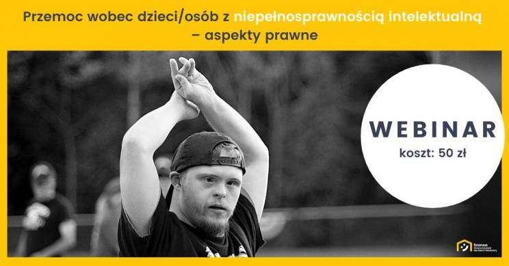 webinar SZANSA. przemoc wobec osób niepełnosprawnych.plakat